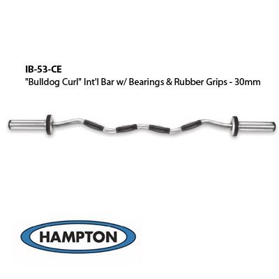"""Bulldog Curl"" International Bar w/ Bronze Bushing & Urethane Grips (30mm)"