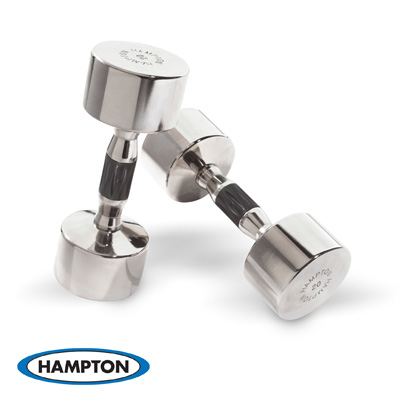 CHROME BEAUTY GRIP DUMBBELLS - PAIRS